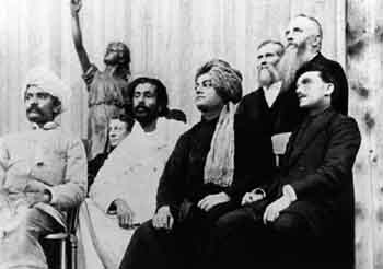 Swami Vivekananda on the stage